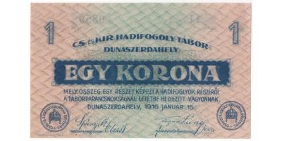 Dunaszerdahely hadifogolytábor 1 korona 1916