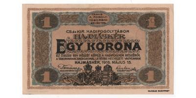 Hajmáskér hadifogolytábor 1 korona 1916