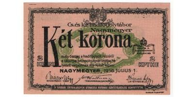 Nagymegyer hadifogolytábor 2 Korona 1916