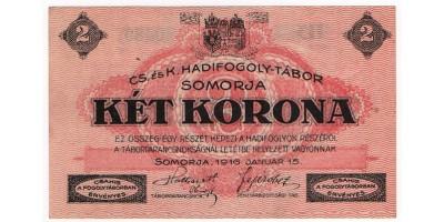 Somorja hadifogolytábor 2 Korona 1916