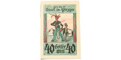 Ausztria Bruck im Pinzgau 40 heller 1921 krampusz