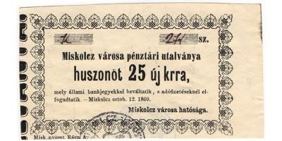 Miskolc 25 krajcár 1860