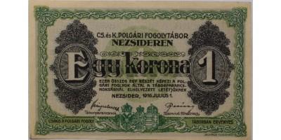 Nezsider hadifogolytábor 1 korona 1916
