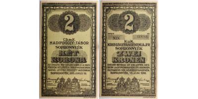 Sopronnyék hadifogolytábor 2 korona 1916