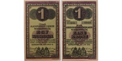 Sopronnyék hadifogolytábor 1 korona 1916