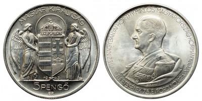 Horthy 5 pengő 1943 ARTEX utánveret