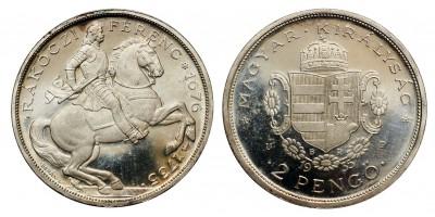 2 Pengő 1935 Rákóczi Proof