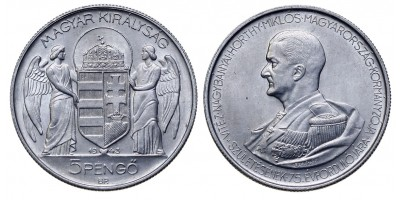 Horthy 5 pengő 1943