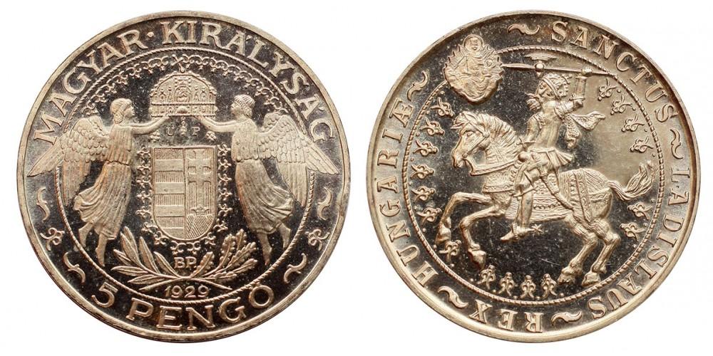 5 Pengő 1929 U.P.