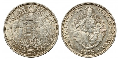2 pengő 1935 R!