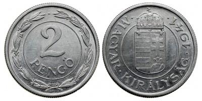 Hullámos talpú 2 pengő 1941
