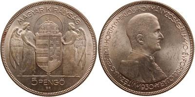 Horthy 5 pengő 1930