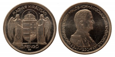 5 Pengő 1930 U.P Artex