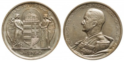 Miklos Horthy 5 pengő 1938 R!