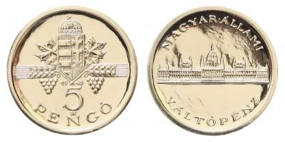 5 pengő 1945 ezüst utánveret