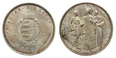 2 Pengő Pázmány 1935