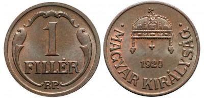 1 fillér 1929