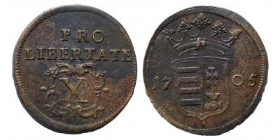 II.Rákóczi Ferenc X poltura 1705