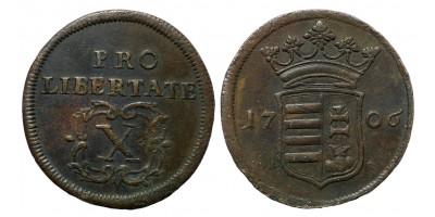 II.Rákóczi Ferenc X poltura 1706