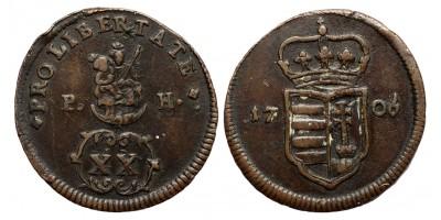 II.Rákóczi Ferenc XX poltura 1706