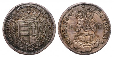II.Rákóczi Ferenc 1/2 tallér 1704 KB