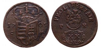 II.Rákóczi Ferenc XX poltura 1705 C-M