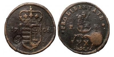 Rákóczi XX poltura 1706 ellenjeggyel