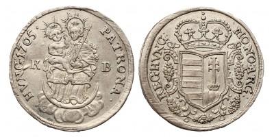 Rákóczi 1/2 Tallér 1705 KB.