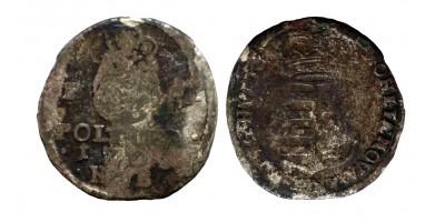 II. Rákóczi Ferenc ezüst poltura 1703 NB R