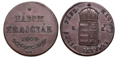 3 krajcár 1849