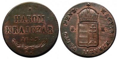 3 krajcár 1849 NB.