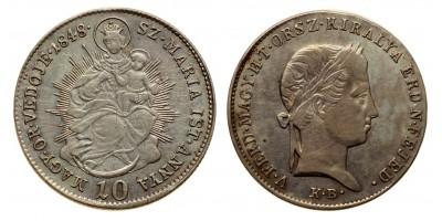 Szabadságharc 10 krajcár 1848 KB.