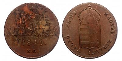 Szabadságharc 1 krajcár 1849 NB.