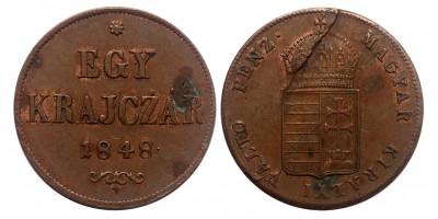 Szabadságharc 1 krajcár 1848 jn.
