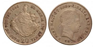 Szabadságharc 20 krajcár 1848 KB