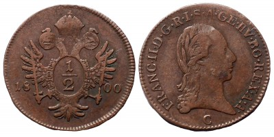 I.Ferenc 1/2 krajcár 1800 C