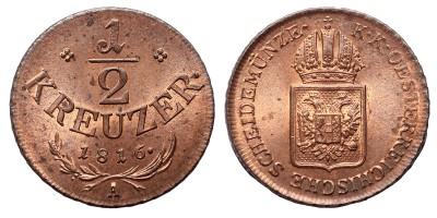 I.Ferenc 1/2 krajcár 1816 A