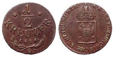 I.Ferenc 1/2 krajcár 1816 O