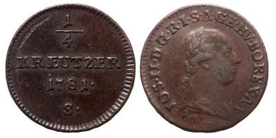 II.József 1/4 krajcár 1781 S