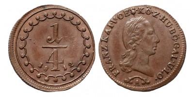 I.Ferenc 1/4 krajcár 1812 A