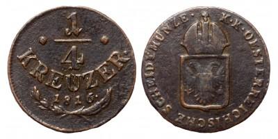 I.Ferenc 1/4 krajcár 1816