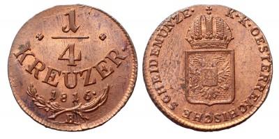 I.Ferenc 1/4 krajcár 1816 B