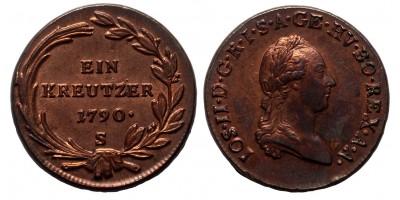 II.József krajcár 1790 S
