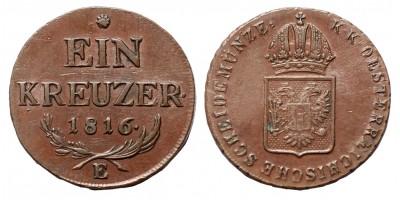 I.Ferenc krajcár 1816 E