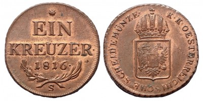 I.Ferenc  krajcár 1816 S