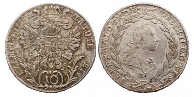 II.József  10 krajcár 1765 E.V.M.D./B R!