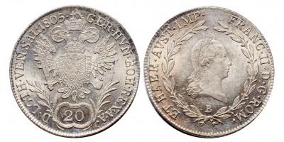 I.Ferenc 20 krajcár 1805 B