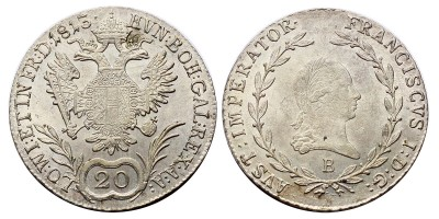 I.Ferenc 20 krajcár 1813 B