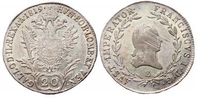 I.Ferenc  20 krajcár 1919 E