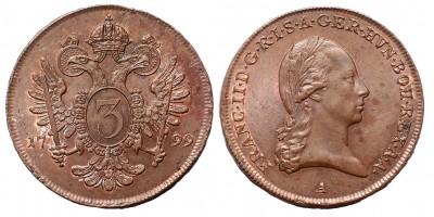 I.Ferenc 3 krajcár 1799 A R!